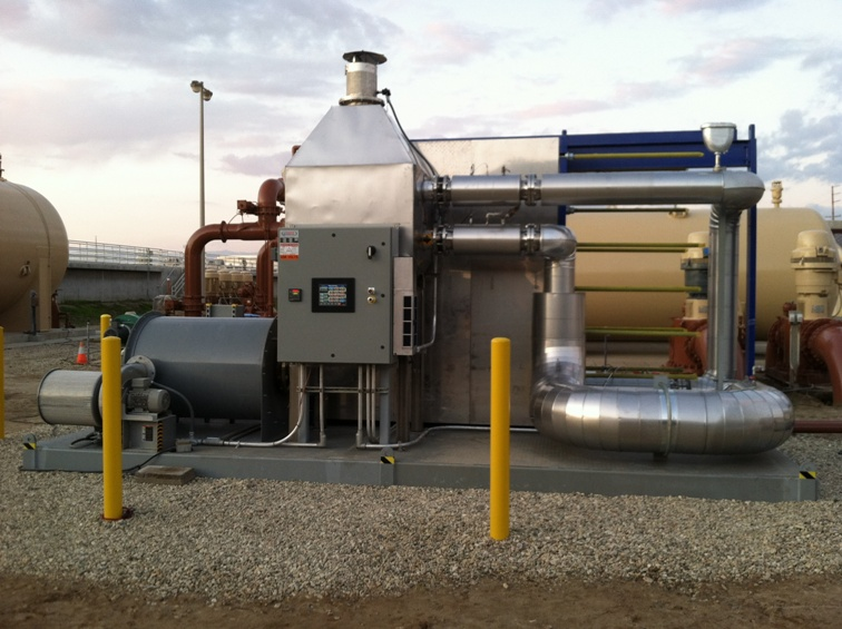 PTG's 350-gallon per minute full-scale demonstration unit at the Ventura Water Reclamation Facility in Ventura, CA.