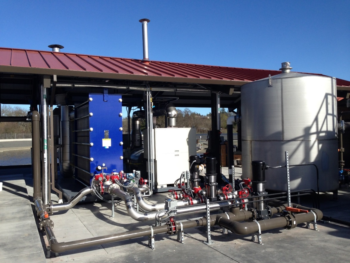 PTG's commercial disinfection system capable of treating more than 500,000 gallons per day at Graton Community Services District in Sonoma County, California.
